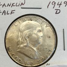 *1949-D Franklin Half Dollar Coin (JG)