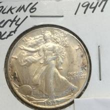 *1947 Walking Liberty Half Dollar Coin (JG)