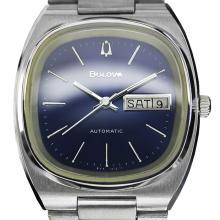 *Bulova Blue Day Date Automatic Watch