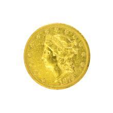 *1872 $20 U.S. Liberty Head Gold Coin (DF)