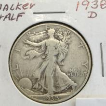 *1938-D Walking Liberty Half Dollar Coin (JG)