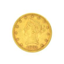 *1881 $10 U.S. Liberty Head Gold Coin (DF)