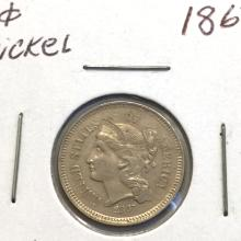 *1867 3c Nickel Coin (JG)