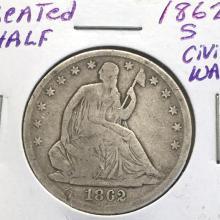 *1862-S Seated Half Cilvil War Era Coin (JG)