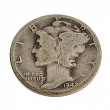 1942-D Rare Museum Winged Liberty Head Type One Dime Coin