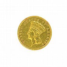 1878 $3 U.S. Gold Coin