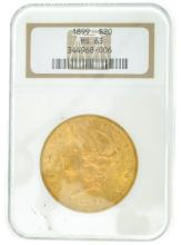 *1899 $20 U.S. MS 63 Liberty Gold Coin (DF)