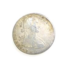 1809 Eight Reales American First Silver Dollar Coin