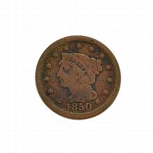 1850 Large Cent Coin