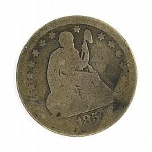 1857 Liberty Seated Type Quater Coin