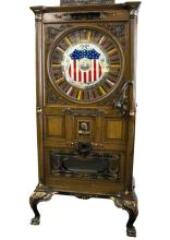 Rare Upright Oak Dewey Slot With Music Mint Condition-PICK UP ONLY-P-NR-Due to laws regulating the sale of antique slot machines, I, as the seller, will not sell to members in the states of Alabama, Connecticut, Hawaii, Nebraska, South Carolina, and Tennessee. Bids from members residing in any of these states will be canceled. Buy It Now transactions with buyers residing in these states will be considered void.