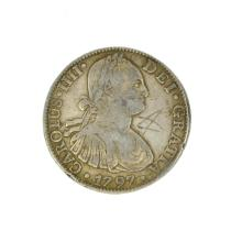 1797 Eight Reales American First Silver Dollar Coin