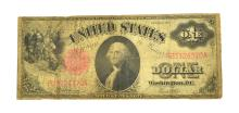1917 $1 U.S Red Seal Large Size Legal Tender