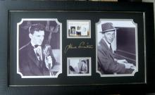 Engraved Frank Sinatra Signature With Real Swatch of Clothing