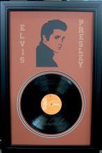 Elvis Engraved Vinyl Record Laser Cut Mat