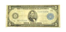 1914 $5 Lincoln Large Size Federal Reserve Note