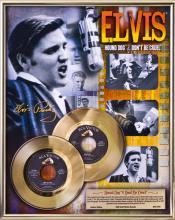 ELVIS PRESLEY ''Hound Dog/Don't Be Cruel'' Gold 45's
