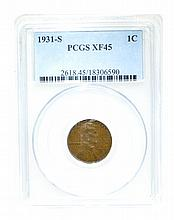1931-S 1C PCGS XF45 Coin