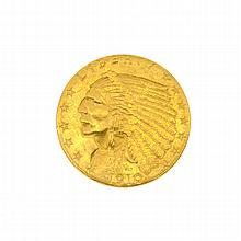 1910 $2.5 U.S. Indian Head Gold Coin
