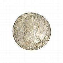 1899 Eight Reales American First Silver Dollar Coin
