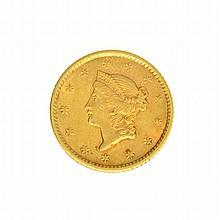 1852 $1 U.S. Liberty Head Gold Coin