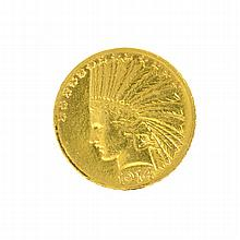 *1914-S $10 U.S. Indian Head Gold Coin