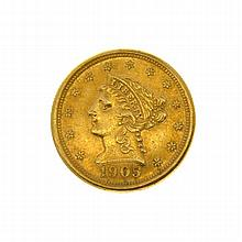 1905 $2.5 Liberty Head Gold Coin