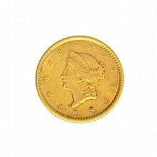 1852 $1 U.S. Liberty Head Gold Coin