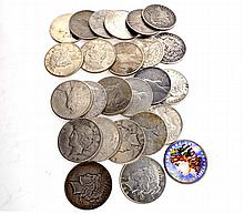 25 Misc.Morgan Dollar Coin