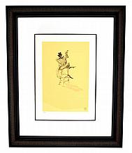Toulouse-Lautrec (After) ''Negre Jouant Du Banjo'' Rare Museum Framed 18x22 Ltd. Edition 332/350