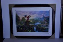 Rare Thomas Kinkade Original Limited Edition Numbered Lithograph Plate Signed Museum Framed ''Fantasia''