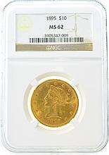 *1895 $10 MS 62 NGC Liberty Gold Coin (DF)