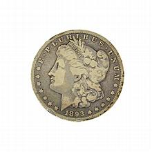 1893-CC Morgan Dollar Coin