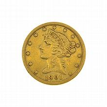 1901-S $5 U.S. Liberty Head Gold Coin