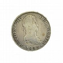 1823 Eight Reales American First Silver Dollar Coin