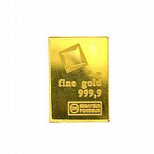 1gm. Valcambi Suisse Gold Bar