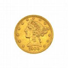 1900 $5 U.S. Liberty Head Gold Coin