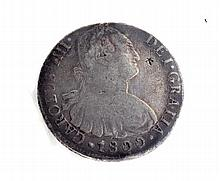 1800 Eight Reales First Silver Dollar Coin
