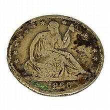 1866 Liberty Seated Half Dollar Coin