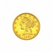 1901-S $5 U.S. Liberty Head Gold Coin