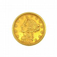 1852 U.S. $2.5 Liberty Head Gold Coin