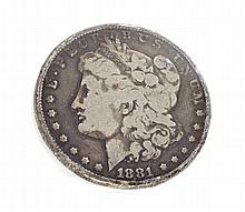 1881 Morgan Dollar Coin