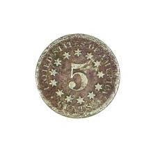 1867 Nickel Five Cent Piece Coin