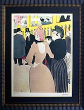 (After) Custom Framed La Goulue Et La Mome Fromage Lithograph By Toulouse-Lautrec