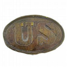 Civil War U.S. Cartridge Box Plate From Maryland