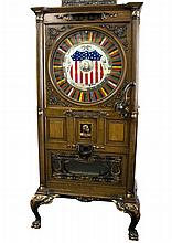 Rare Upright Oak Dewey Slot With Music Mint Condition-PICK UP ONLY-P-NR-Due to laws regulating the sale of antique slot machines, I, as the seller, will not sell to members in the states of Alabama, Connecticut, Hawaii, Nebraska, South Carolina, and