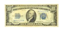 1953 $10 Blue Seal Note Silver Certificate