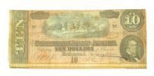 1864 $10 Confederate Note