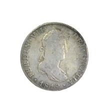 1819 Eigth Reales American First Silver Dollar Coin
