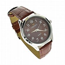 Sheffield Quartz Watch With Brown Band